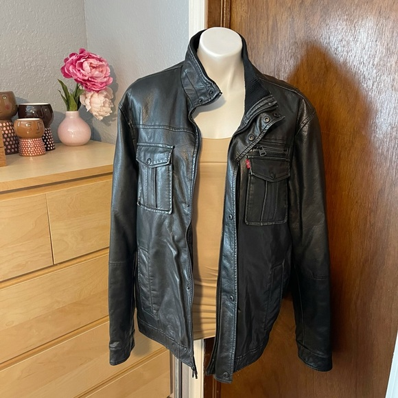 Levi's Faux Leather Motorcycle Sherpa Jacket